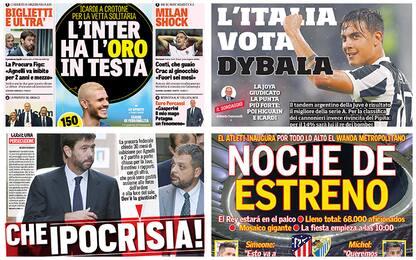 Dall'Icardi biondo a Dybala: la rassegna stampa