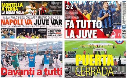 Napoli, Juve, Milan, Barcellona: rassegna stampa