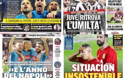 Napoli, Juve, Milan, bufera Piqué: rassegna stampa