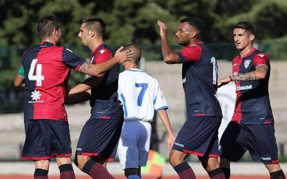 Cagliari, amichevole con il Budoni: 6-0 il finale