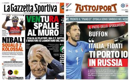 Italia, Ventura spalle al muro: la rassegna stampa