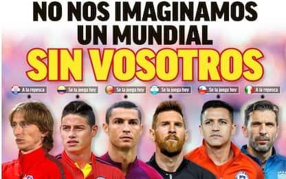 """Marca per Buffon&co: """"Non c'è Mondiale senza voi"""""""
