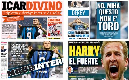 """Icardivino"". Derby all'Inter, la rassegna stampa"