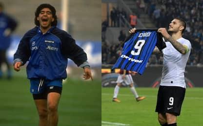 Napoli-Inter, Maradona contro Icardi: la storia