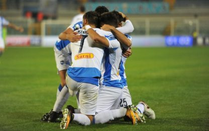 Brugman frena il Palermo: a Pescara finisce 2-2