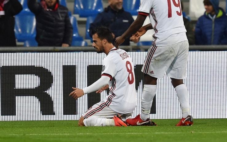 Suso esulta in occasione del suo ultimo gol in campionato, foto Getty