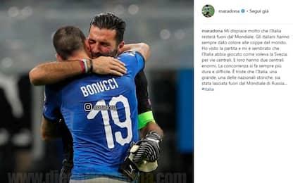 "Maradona: ""Triste per l'Italia, mi dispiace"""
