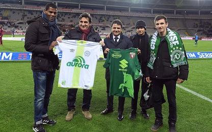 Torino, maglia speciale in onore della Chapecoense