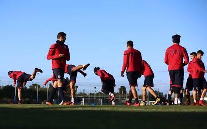 Serie A, Cagliari: Romagna parzialmente in gruppo