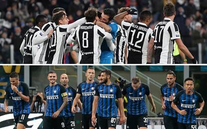 Juve-Inter, rosa lunga contro 11 titolarissimi