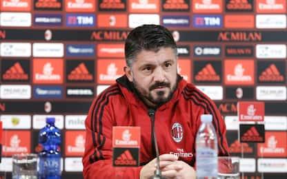 """Gattuso: """"Mercato? Contento dei giocatori che ho"""""""
