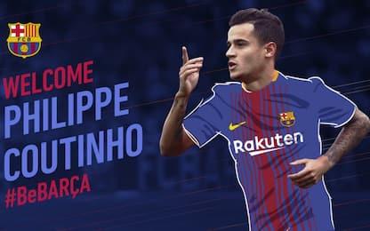 Barça, ufficiale l'arrivo di Coutinho per 160 mln
