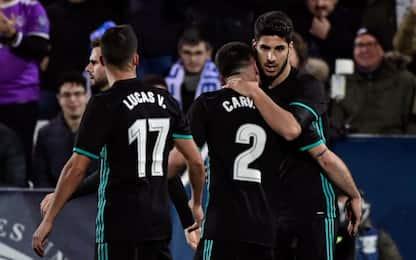 Il Real torna a vincere: Asensio stende il Leganes