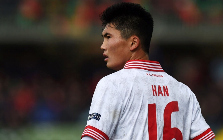 L'attaccante del Cagliari Han, attualmente al Perugia. Foto Getty