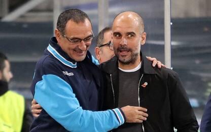 """Guardiola: """"Napoli spettacolare. Sarri ti aspetto"""""""