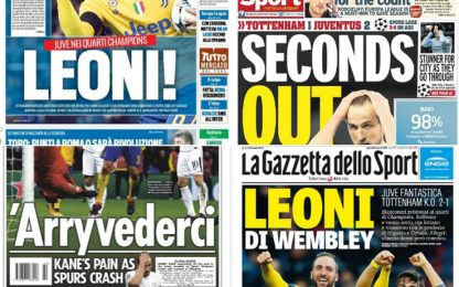 """""""Leoni di Wembley"""", """"Arryvederci"""": rassegna stampa"""