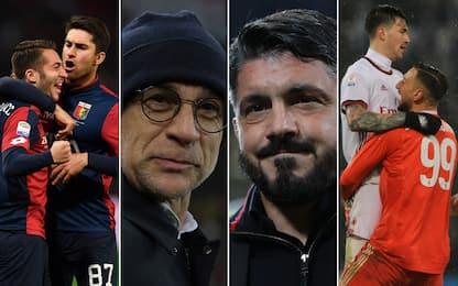 "Genoa-Milan, svolte in panchina: ""Balla"" come Rino"