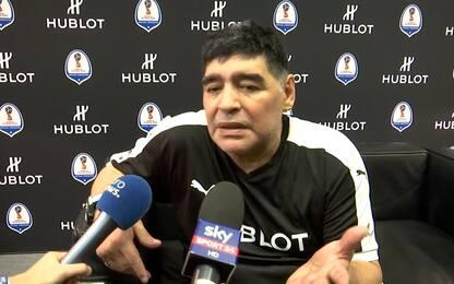 """Maradona: """"Il Napoli? Come il mio, può vincere"""""""