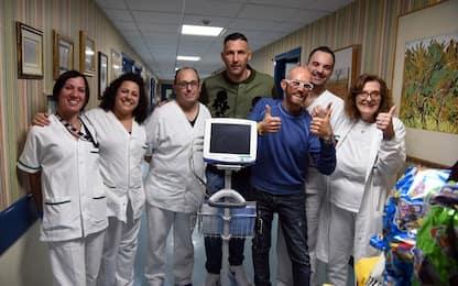 Materazzi e la donazione all'oncologia di Perugia