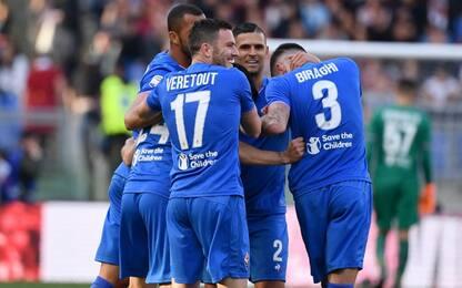 Vola la Fiorentina, iella Roma: 0-2 all'Olimpico