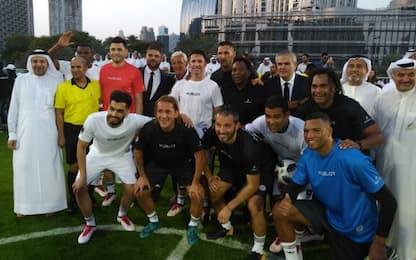 Lippi, festa a Dubai con Pelé e altri ex campioni