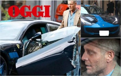 Lapo Elkann distrugge la Ferrari da fermo