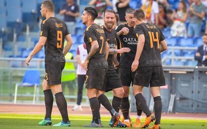 La Roma avvisa il Liverpool: 4-1 al Chievo