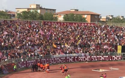 Il Livorno torna in serie B: scatta la festa
