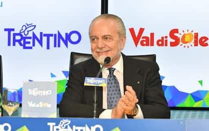 """De Laurentiis: """"Sarri? Secondi anche con Mazzarri"""""""