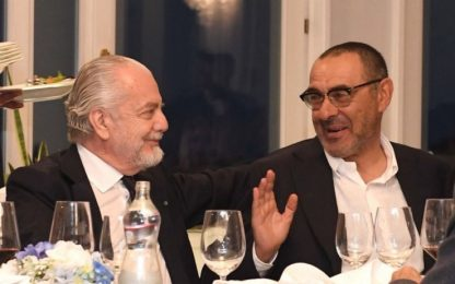 "Napoli, De Laurentiis: ""Sarri, la grande bellezza"""