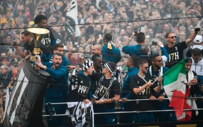 Juve, festa Scudetto con oltre 50mila tifosi