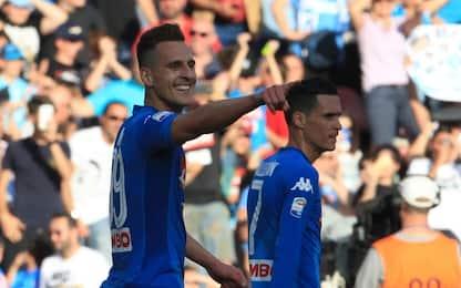 Il Napoli vince 2-1: Crotone in Serie B
