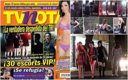 Festino hot con 30 escort: bufera su 8 del Messico