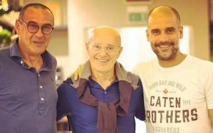 Sarri, Sacchi e Guardiola: cena a base di calcio