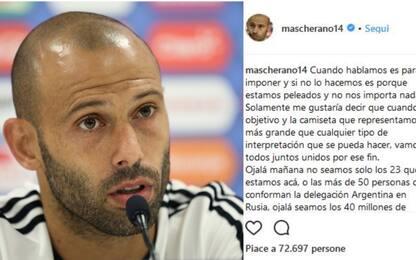 """Mascherano: """"Con noi 40 milioni di argentini"""""""