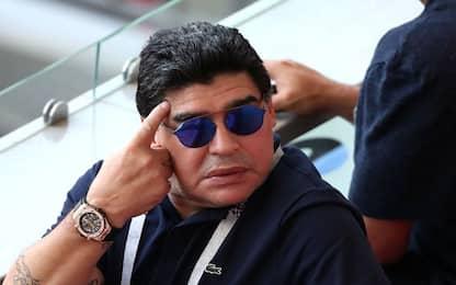 """Maradona: """"Arbitro ladrone, Colombia rapinata"""""""