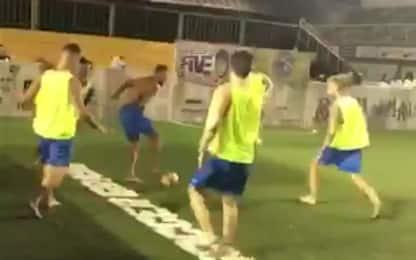 Neymar, show nel futsal: dribbling e gol pazzesco