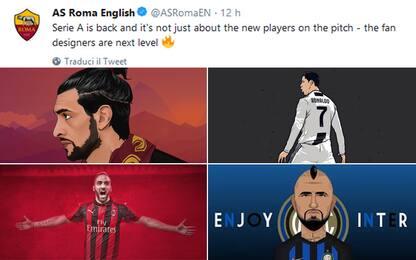 Twitter, Inter e Roma scherzano a colpi di troll