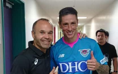 Giappone, primo gol di Torres: Iniesta sconfitto