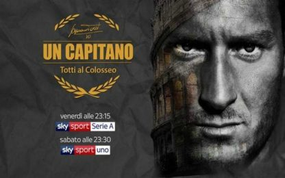 """""""Un capitano, Totti al Colosseo"""", lo speciale Sky"""