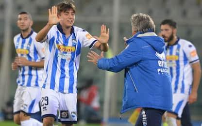 Pescara, 4-2 al Lecce e primato. Decide Del Sole