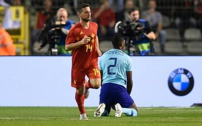 Belgio-Olanda, che gol di Mertens: video