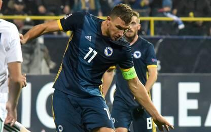 Dzeko, doppietta con la Bosnia: e sono 301 gol
