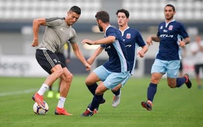 CR7, gol al Chieri in partitella. Dybala in dubbio