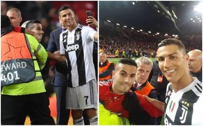 Ronaldo e il selfie con l'invasore: ecco la foto