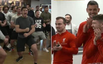 Haka per il Liverpool: lo show dei Kiwis in mensa