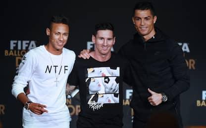 """Neymar: """"Messi è il mio idolo, CR7 un mostro"""""""