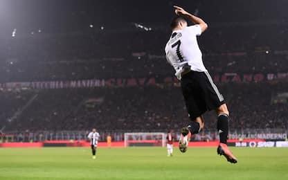 CR7, dopo il gol San Siro 'esulta' come lui. VIDEO
