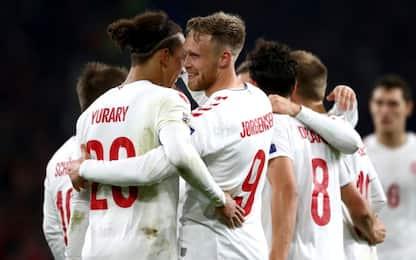 Nations League, i risultati: Danimarca promossa