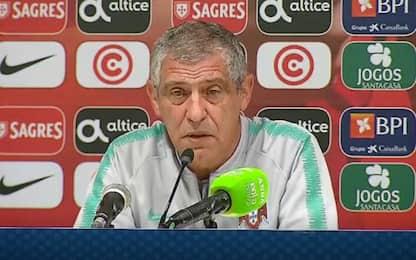 """Santos: """"È un'altra Italia. CR7 a marzo? Vediamo"""""""